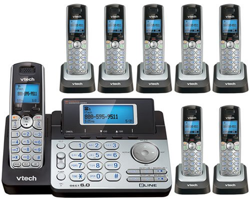 Price comparison product image Vtech DS6151 Base with 7 Additional DS6101 Cordless Handsets Bundle