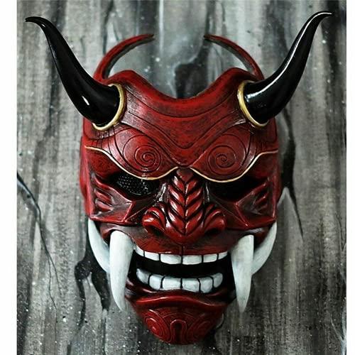 AUSUKY Mascarilla japonesa Demonio Hannya Oni Samurai Kabuki Monster Latex Cosplay...