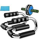 3 Piezas De Ejercicio Físico Set - Roller Push-Up Bar Rodilla Pad Daily AB Workout Inicio Equipo Conjunto 3 Piece Set