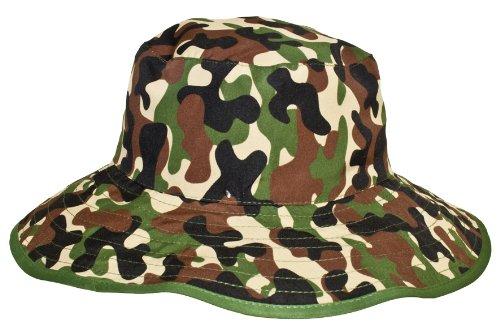 Baby Banz Chapeau de Soleil Réversible 0-2 ans - Vert Camouflage