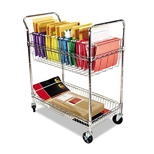 Alera Carry-All Mail Cart, 2-Shelf, 34-7/8w x 18d x 39-1/2h, Steel (MC343722CR)