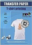 PPD Inkjet Premium Iron-On Light T Shirt Transfer Paper 11 x 17 Pack of 10 Sheets (PPD007-10)
