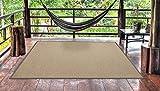 Alfombra PVC Exterior Balcón Terraza Jardín Diseño como Bambú Natural (170_x_240_cm)