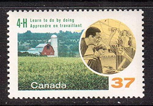 FGNDGEQN Colección de Sellos Canadá 1988 Granja y Joven científico Sello 1 Completo