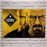 Gounqaf Breaking Bad Bryan Cranston Walter White Aaron Paul Men with Glasses Living Room Wall Art Posters Canvas Prints Home Decor -50X80cm No Frame