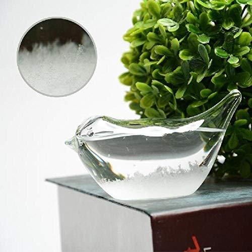 EDCV Glazen stormfles Home Office Decoration Gift Kleine kristallen weersvoorspelling Fles Glazen stormfles, platte vogel