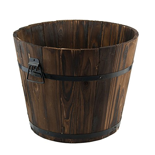 Large Burntwood Barrel Planter Will Add Charm And Character To Your Garden.