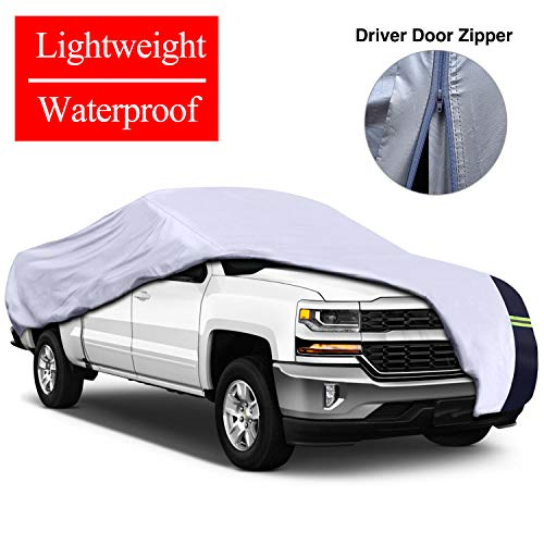 KAKIT Waterproof Truck Cover, Lightweight Car Covers for Truck Windproof UV Protection...
