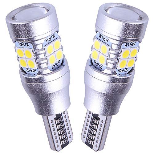 NINGLE 921 LED Reverse Light Bulb White Extremely Bright 906 912 T15 W16W 579 921 LED Bulb for Backup Reverse Light Pickup Truck Cargo Light Bulbs Canbus Error Free 6000K (Pack of 2)