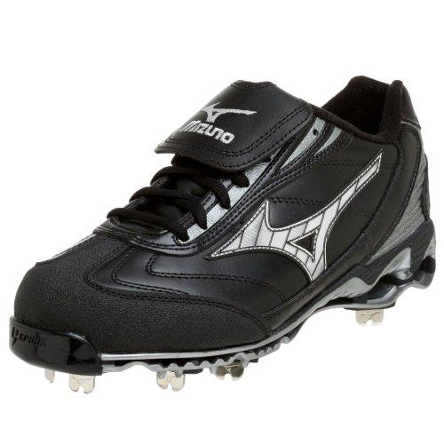 Mizuno Herren Pro Low G4 Baseball Cleat, Schwarz (schwarz/silber), 48 EU