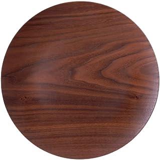 【選べる3色】28cm 木製 木 丸型 トレー トレイ M プレート 丸 サークル お盆 皿 ウッド 天然木 合板 軽い 軽量 カフェ ランチ ランチプレート スタック wood plate 可 ラッピング不可 ブラックウォールナット