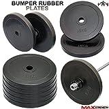 Ogni disco pesa 15kg, è di ottima qualità ed è prodotto in gomma per protezione.