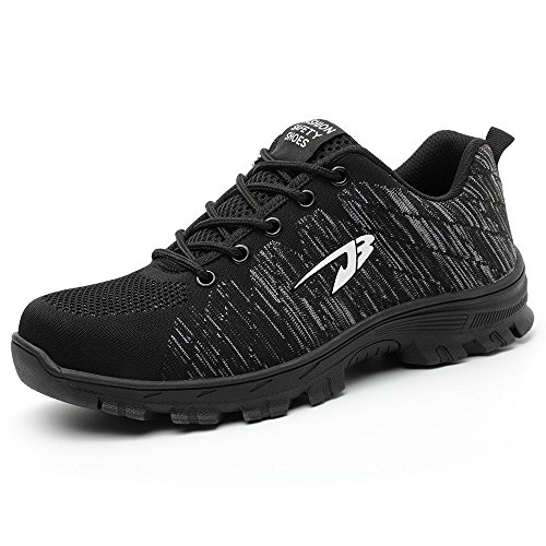 TICCOON Work Steel Toe Shoes Safety Shoes for Men and Women Lightweight...