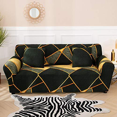 WXQY Sala de Estar Cubierta de sofá elástica geométrica sección Moderna Cubierta de sofá de Esquina Cubierta de protección de Silla Cubierta de sofá A2 3 plazas