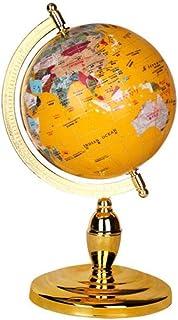 Glober, Gul Universell Världsglob, Flytande Glob Dekorerad Skrivbord Hem Sfär Karta Present Ornament