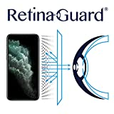 RetinaGuard iPhone 11 Pro ブルーライトスクリーンプロテクター(5.8インチ)、SGSとIntertekテスト済み、過度の有害なブルーライトをブロック、目の疲れや目の疲れを軽減。