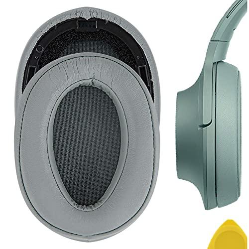 Geekria QuickFit Almohadillas de repuesto para auriculares Sony MDR-100ABN WH-H900N, almohadillas para auriculares, almohadillas para auriculares, piezas de reparación (verde grisáceo)