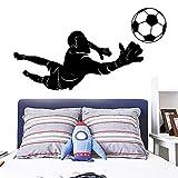 yaonuli Kreative Fußballspieler Familiendekoration Kinderzimmer Wanddekoration Vinyl Wandaufkleber 42X76cm