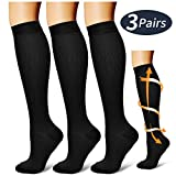 Compression Socks,(3 Pairs) Compression Sock for Women & Men - Best for Running, Athletic Sports, Crossfit,...