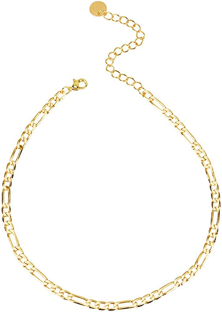 Gold Choker Necklace Simple Dainty Chain Choker Necklace for Women