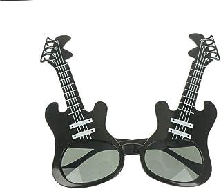 QPRER - Gafas De Sol,Guitarra Negra Patrón De Novedad Chica Clásica IR De Compras Gafas De Sol Verano Niños Diariamente Al Aire Libre Gafas Niño Seaside Party Decoraciones Cumpleaños Día del Niño