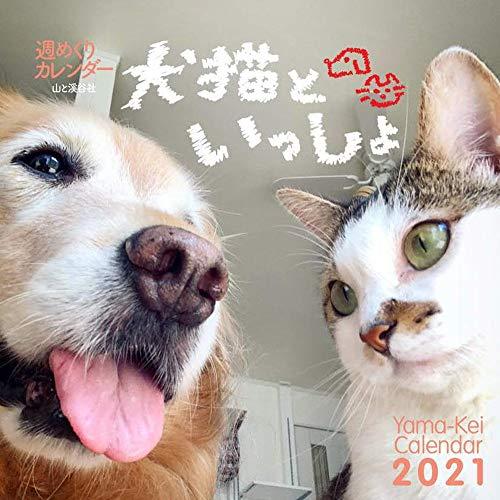 カレンダー2021 週めくりカレンダー 犬猫といっしょ(卓上・リング) (ヤマケイカレンダー2021)の詳細を見る