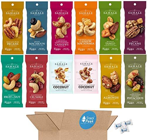 Sahale Snack Peak Variety Gift Box – 12 (1.5 oz) packages: 12 Unique Nut Mix Flavors