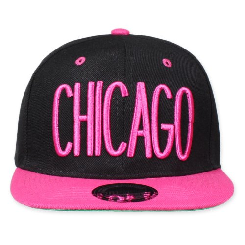 Original Snapback (One size, Chicago City Noir/Rose) d'origine + My CHICOS – Stickers