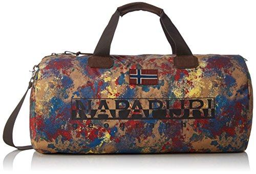 NapapijriBERING PRINT - Borsa a tracolla Uomo , Multicolore (Mehrfarbig (FANTASY F60)), 60x32x32 cm (B x H x T)