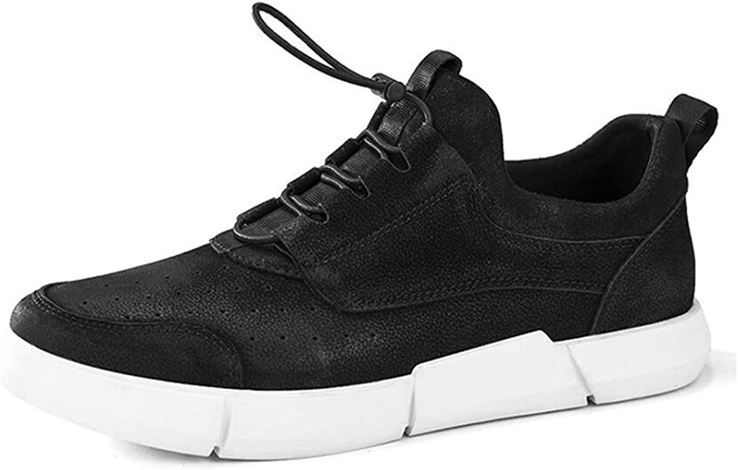 Leather Sneakers Outdoor Leisure Fashion Versatile Shock Absorption Breathable