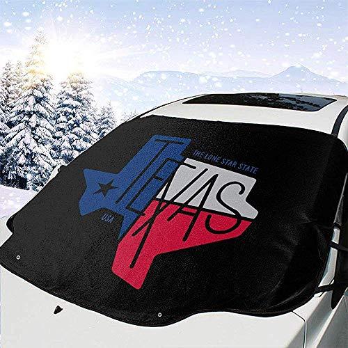 Cubierta de nieve para parabrisas de coche Texas The Lone Star State Frost Guard Protector, cubierta de hielo, parasol de coche Protector de parabrisas impermeable para coche / camión / SUV 147x118cm