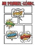 MI PRIMER CÓMIC. Libro de iniciación al dibujo del cómic para niños y niñas.: Libro en blanco con viñetas sin rellenar para niños y niñas que quieren ... primeros cómics. 120 Páginas y 8 historias