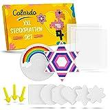 Colardo® [8x] Piastre di perline da stirare – Include 3 fogli di carta da stirare e 8 modelli creativi – Piastre trasparenti da 5 mm – Stencil per perline da stirare