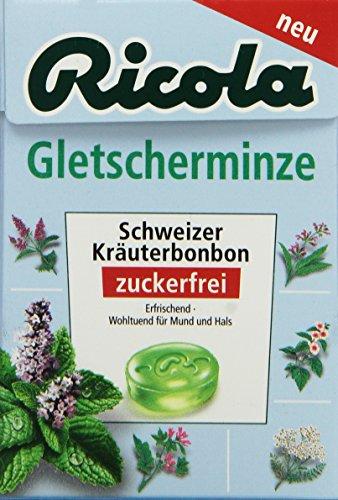 Ricola Gletscherminze Zuckerfrei 50 g, 5er Pack (5 x 50 g)
