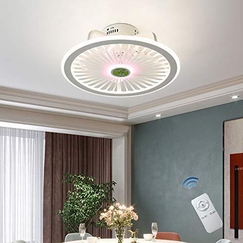 CAGYMJ Ventilador de Techo con Luz y Control Remoto, Ventilador Silencioso Creativo Sigiloso Velocidad del Viento Ajustable Lámpara de Techo LED Regulable[Clase de eficiencia energética A++]