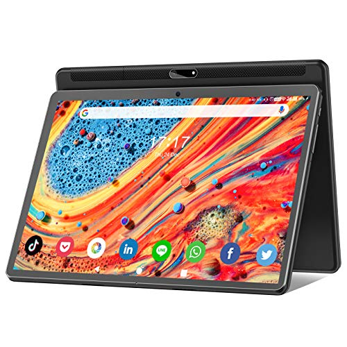 Tablet 10 Zoll Android 10.0, 5G WiFi Google Tablet Pad, 32GB ROM 128GB erweiterbar,Octa-Core-Prozessor,13MP & 5MP Kamera, 1920 x 1200 IPS FHD-Display, GPS WiFi Buletooth OTG 10,1