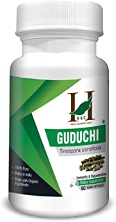 Guduchi Capsules - Made with Organic Ingredients, Immune Booster, Detoxifies, Vegan (60 Count, 900mg Per Serving)