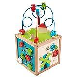 KidKraft Bead Maze Cube Multi, 10.6 x 10.5 x 19.6