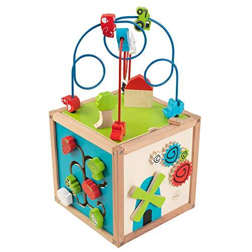Kidkraft 63243 Cube Labyrinthe De Perles En Bois, Jeu D'Éveil Premier Âge, Boulier Enfant Pour Apprendre À Identifier Les Couleurs, Formes, Lettres Et Chiffres