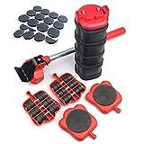 LOVECENTRAL Kit de Ruedas para Mover Muebles Pesados (13 piezas), Juego de Elevador de Muebles con 4 Ruedas de 360 Grados, 24 Pcs Alfombrillas Redondas para Proteger Muebles como Sillas.
