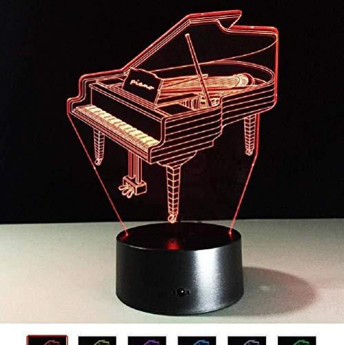 D Piano licht tafel kinderen licht 7 kleurvariatie effect decoratie slaapkamer licht touch USB3AA batterij licht cadeau voor muziekfan