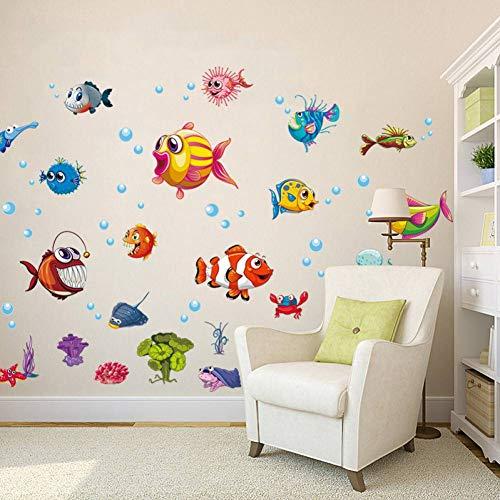 GUDOJK Muursticker diy onderwater kinderen muur sticker voor kinderen kamers badkamer glazen tegel muur stickers lijm home decor