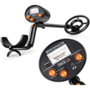 TACKLIFE Pinpoint Metal Detectors - High Precision & Target Screenable Metal Detector for Adults & Kids with Waterproof Coil , Adjustable Stem & Audio Jack.(9V Battery Include)