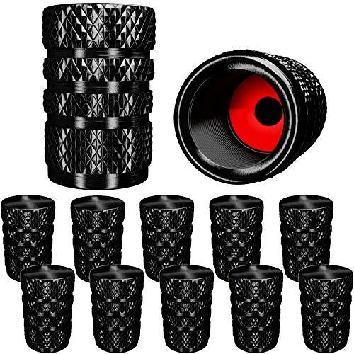 Valve Stem Caps Heavy-Duty Stem Covers MENOLY Tire Valve Caps - Grey Dustproof, O Rubber Seal, Aluminum Alloy, Hexagon Design 20 Pack