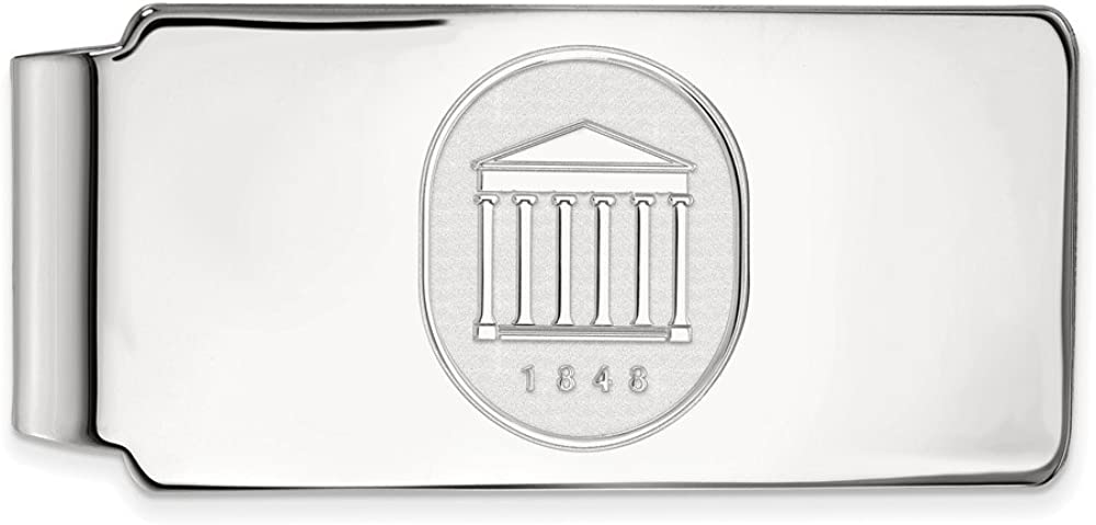Solid free shipping 14k White Gold Official of University Bus Slim Mississippi 2021new shipping free