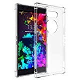Orzero TPU Case Compatible for Razer Phone 2 Full Protective HD Ultra-Thin Cover Full Body Heavy Duty [Four-Corner Airbag Protection] -Clear