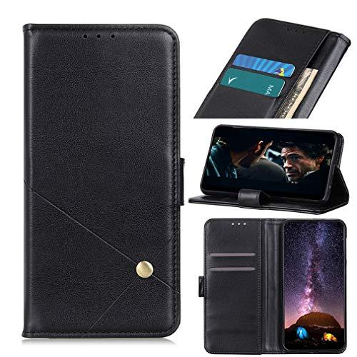 LMFULM® Hülle für HTC Exodus 1s / HTC Desire 12s (5,7 Zoll) PU Leder Hülle Magnet Brieftasche Lederhülle Individualität Style Stent-Funktion Schutzhülle Flip Cover Schwarz