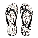 SWIMGJ528 Chessboard and Chess Clock Pattern Adults Summer Beach Colorful Printing Sandals Men and Women