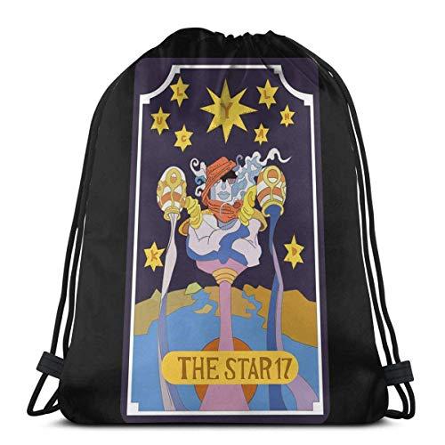 Chezaskee Jojo's Bizarre Star Platinum Bolsas de cordón clásico para hombres y mujeres Mochila de deporte bolsa de almacenamiento de viaje bolsa de playa