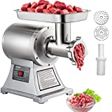 Happybuy Electric Meat Grinder Mincer 550Lbs/Hour 1100W Commercial Sausage Stuffer Maker Stainless Steel 220 RPM 1.5HP for Industrial and Home Use
